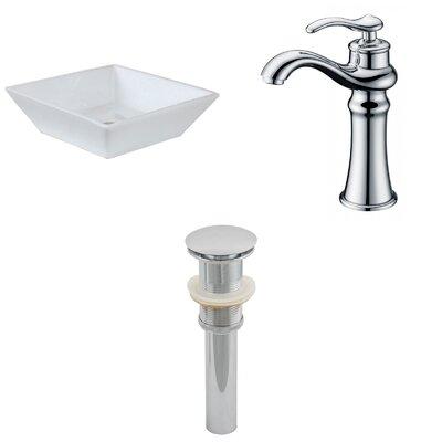 Square Vessel Bathroom Sink