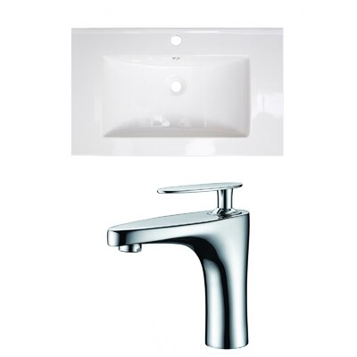 Single Handle 32 Single Bathroom Vanity Top