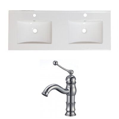Single Handle 48 Double Bathroom Vanity Top