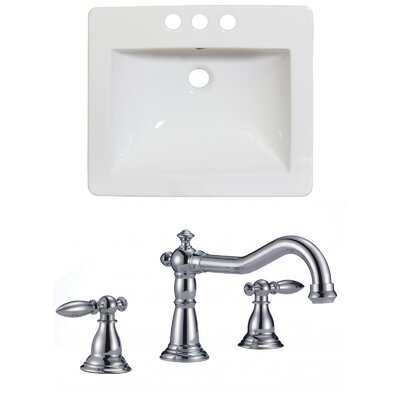 Double Handle 21 Single Bathroom Vanity Top