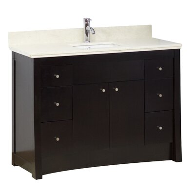 Transitional 35 Single Bathroom Vanity Base Hardware Finish: Aluminum