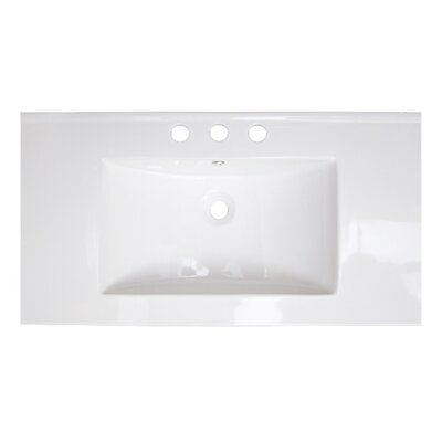 Drop-in 36 Single Bathroom Vanity Top