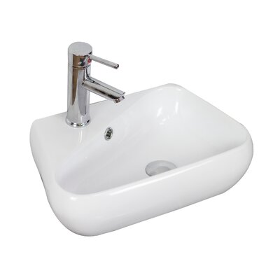 Above Counter Specialty Vessel Bathroom Sink with Overflow