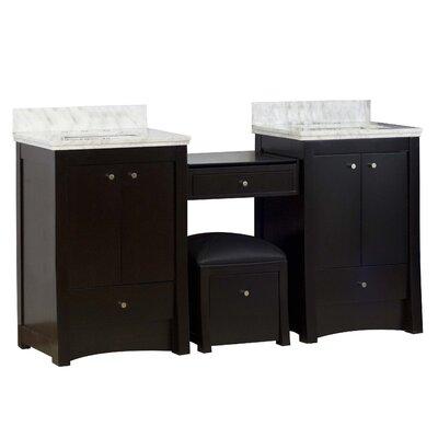 Kimbrell European Floor Mount 68.75 Single Bathroom Vanity Set Faucet Mount: 8 Centers