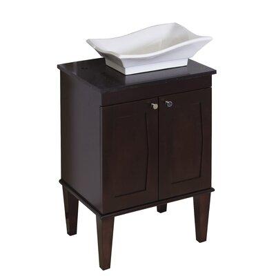 24 Single Transitional Bathroom Vanity Set Hardware Finish: Chrome