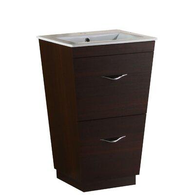 Kao Floor Mount 21 Single Bathroom Vanity Set Faucet Mount: Single Hole
