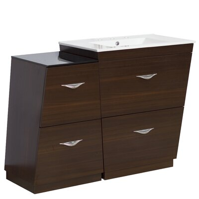47.5 Single Modern Bathroom Vanity Set Hardware Finish: Brushed Nickel