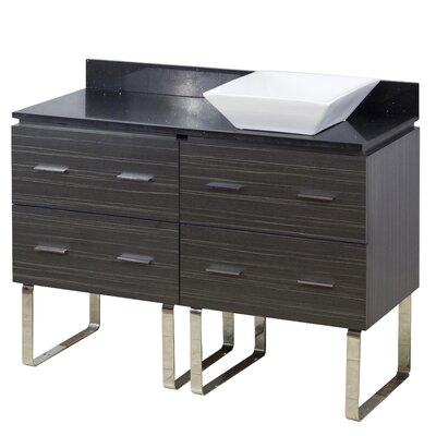 48 Single Modern Bathroom Vanity Set Hardware Finish: Chrome
