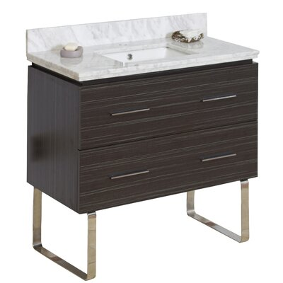 36 Single Modern Bathroom Vanity Set Hardware Finish: Brushed Nickel