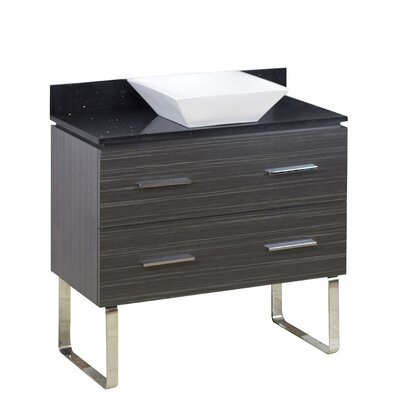 36 Single Modern Bathroom Vanity Set Hardware Finish: Chrome