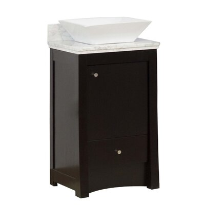 20 Single Transitional Bathroom Vanity Set Hardware Finish: Chrome