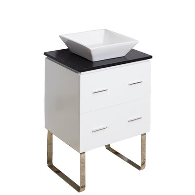 24 Single Modern Bathroom Vanity Set Hardware Finish: Aluminum