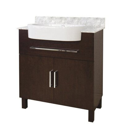 33 Single Transitional Bathroom Vanity Set Hardware Finish: Aluminum