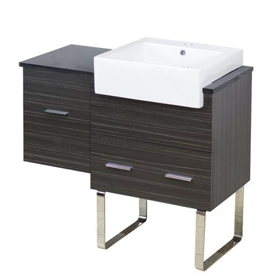 Xena Farmhouse Plywood-Melamine 37 Single Bathroom Vanity Base