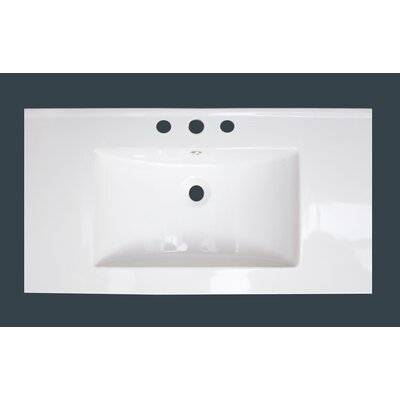 Flair Ceramic 37 Single Bathroom Vanity Top