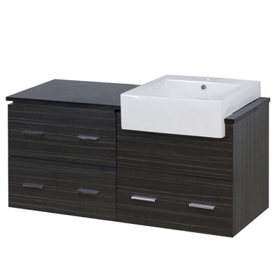 Xena Farmhouse Wall Mount Plywood-Melamine 46 Single Bathroom Vanity Base Base Finish: Dawn Gray