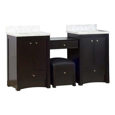 Kimbrell European Floor Mount 68.75 Single Bathroom Vanity Set Faucet Mount: 4 Centers
