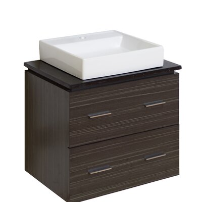 24 Single Modern Wall Mount Bathroom Vanity Set Hardware Finish: Aluminum