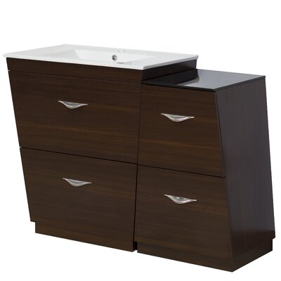 47.5 Single Modern Bathroom Vanity Set Hardware Finish: Aluminum