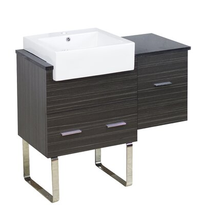 Xena Farmhouse Plywood-Melamine 37 Single Bathroom Vanity Base