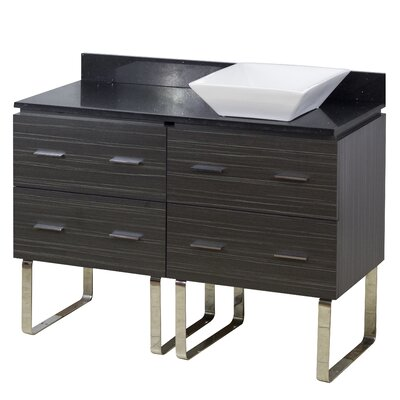 48 Single Modern Bathroom Vanity Set Hardware Finish: Aluminum