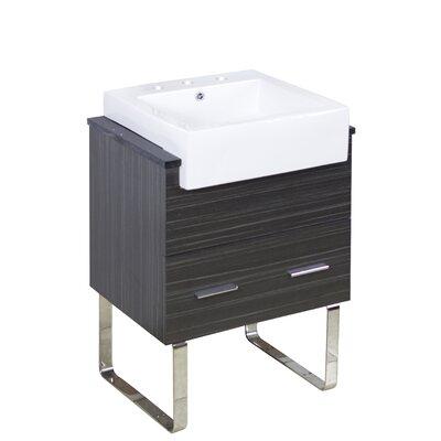 Mulberry Floor Mount 24 Single Bathroom Vanity Set Faucet Mount: 8 Centers