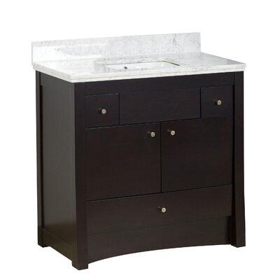 Kimbrell Floor Mount 36 Single Bathroom Vanity Set Faucet Mount: 8 Centers