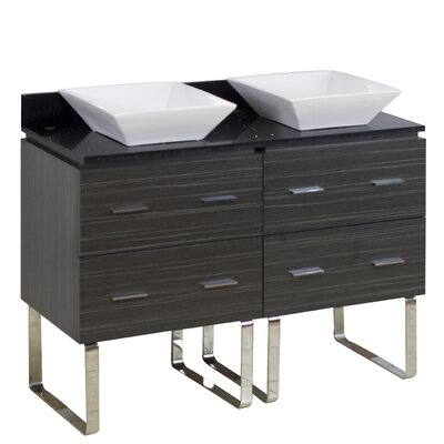 48 Double Modern Bathroom Vanity Set Hardware Finish: Brushed Nickel