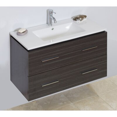 "Modern 35"" Single Bathroom Vanity Base Hardware Finish: Chrome"