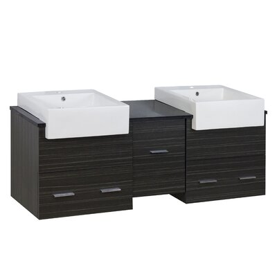 Ceramic 5 Wall Mount Bathroom Sink with Overflow Hardware Finish: Aluminum