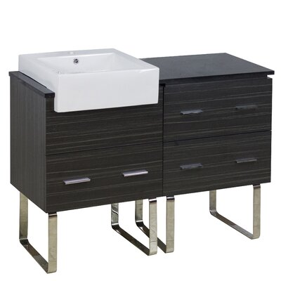 Xena Farmhouse Plywood-Melamine 46 Single Bathroom Vanity Base Base Finish: Dawn Gray
