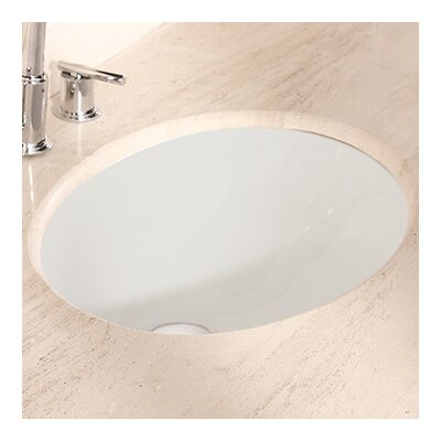 American Imaginations Ceramic Oval Undermount Bathroom Sink with Overflow Hardware Finish: Antique Brass
