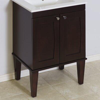 Transitional 23 Single Bathroom Vanity Base Hardware Finish: Chrome