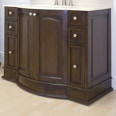 Traditional 41 Single Bathroom Vanity Base Hardware Finish: Brushed Nickel