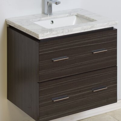 23 Modern Wall Mount Vanity Base Hardware Finish: Brushed Nickel