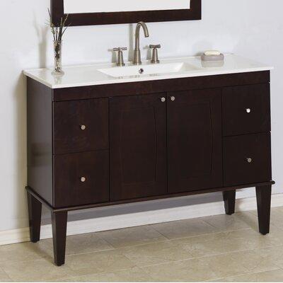 Transitional 48 Single Bathroom Vanity Base Hardware Finish: Aluminum
