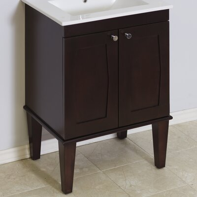 Transitional 32 Single Bathroom Vanity Base Hardware Finish: Brushed Nickel