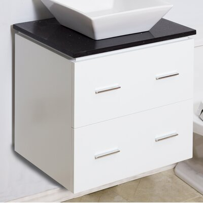 Modern 23 Single Bathroom Vanity Base Hardware Finish: Aluminum