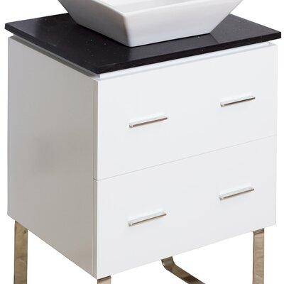 Modern 23 Single Bathroom Vanity Base Hardware Finish: Chrome