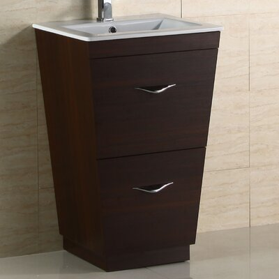 Modern 20 Single Bathroom Vanity Base Hardware Finish: Chrome