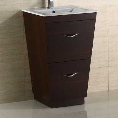Modern 23 Single Bathroom Vanity Base Hardware Finish: Brushed Nickel