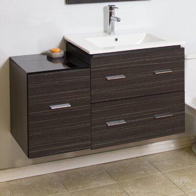 Modern 37 Single Bathroom Vanity Base Hardware Finish: Aluminum