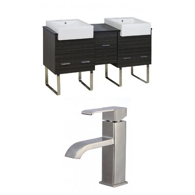 Xena Farmhouse 62 Double Bathroom Vanity Set