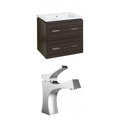 Maryalice Wall Mount 23.75 Single Bathroom Rectangular Vanity Set