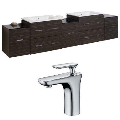 Xena 90 Double Bathroom Vanity Set