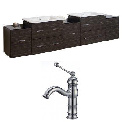 Kyra 90 Wood Double Bathroom Vanity Set