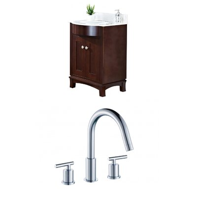 Kester 24 Single Bathroom Vanity Set Sink Finish: White