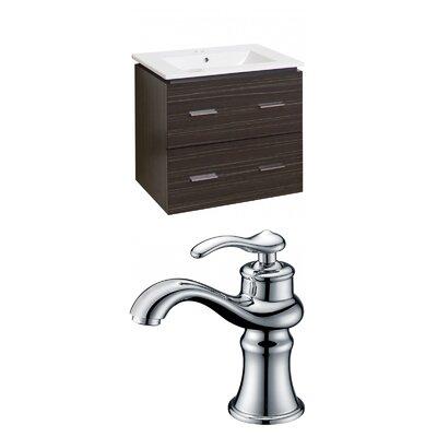 Maryalice Wall Mount 23.75 Single Bathroom Modern Rectangular Vanity Set