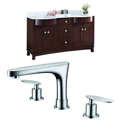 Kimbrough Floor Mount 60 Double Bathroom Vanity Set