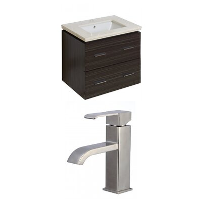 Kyra 24 Single Bathroom Vanity Set with Stone Top